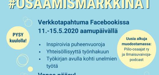 Rekrytointi- ja osaamismarkkinat Facebookissa 11.-15.5.2020!